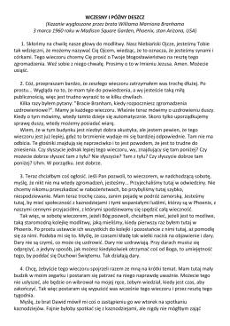 WCZESNY I PÓŹNY DESZCZ (Kazanie wygłoszone