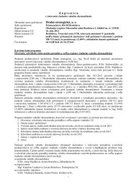 Zápisnica z RVZ zo dňa 26.07.2012