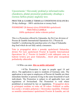 Podmienky 28 dennej výzvy Eukanuba