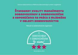 Štandardy kvality manažmentu dobrovoľníkov a dobrovoľníčok a