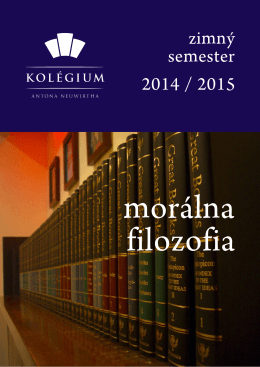 Morálna, politická a právna filozofia (zimný semester 2014