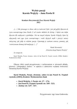 Wybór poezji Karola Wojtyły – Jana Pawła II