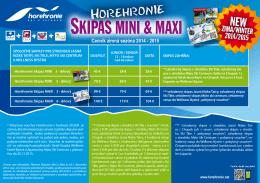 Cenník Horehronie Skipas Mini a Maxi