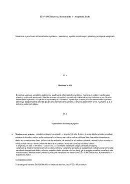 ZŠ s VJM Želiezovce, Komenského 1 – Alapiskola Zselíz Smernica o