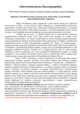 Libertynizm prawa Rzeczypospolitej