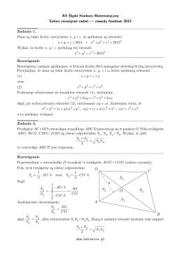 szkicami rozwiązań - Śląski Konkurs Matematyczny