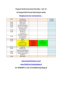 Program Jesteś Potrzebny Poznań 22.11.2014