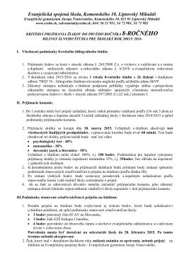 stiahnuť ako PDF súbor - Evanjelická spojená škola | Liptovský