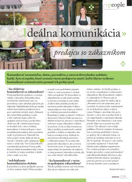 2010 Ideálna komunikácia predajcu so zákazníkom