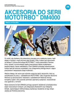 DM4000 Series Accessory Fact Sheet (PL)