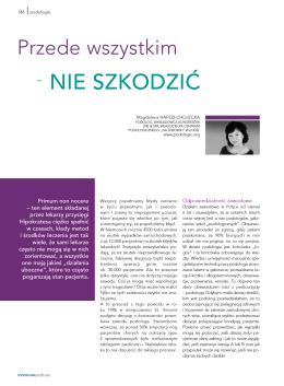 Przede wszystkim nie szkodzić! – publikacja LNE&SPA 2012 r.
