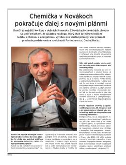 FORBES - Novácka chemička pokračuje s novými