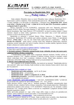 podrobné informácie a prihláška na stiahnutie