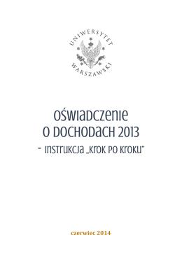 oświadczenie o dochodach 2013