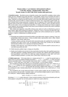 Domáca úloha c. 1 pre študentov informatických odborov 2-AIN