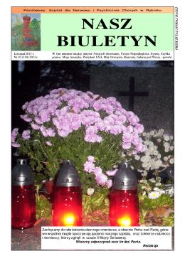Listopad 2013 nr 10 (130) - SPZOZ Państwowy Szpital dla Nerwowo