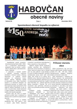 Habovčan 01/2013 (6,1 MB formát PDF)