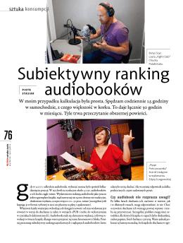 Subiektywny ranking audiobooków