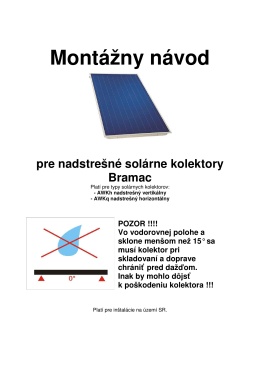 Montážny návod pre nadstrešné solárne kolektory