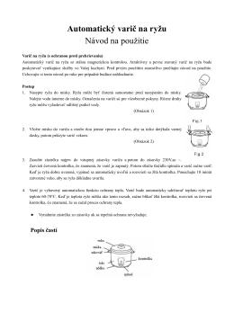 Varič na ryžu SK,CZ,HR manual - dia