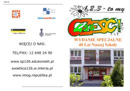 JUBLEUSZ 40 - Szkoła Podstawowa nr 126 im. Komisji Edukacji
