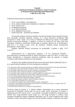 2012-11-20 - Wydział Informatyki
