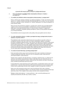 Informacja o prawach osób rannych i pokrzywdzonych w