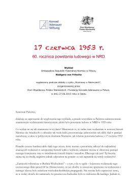 60. rocznica powstania ludowego w NRD