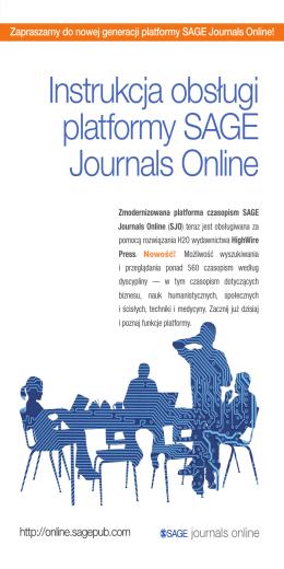 Instrukcja obsługi platformy SAGE Journals Online