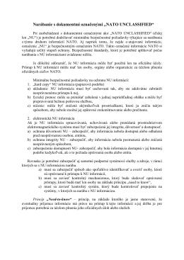 Riadenie neutajovaných informácií NATO – CM(2002)
