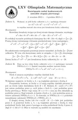 Rozwiązania - Olimpiada Matematyczna