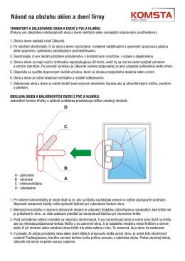 Instrukcja obsługi okien