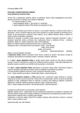 Výtvarný odbor (VO) POSLANIE A CHARAKTERISTIKA ODBORU