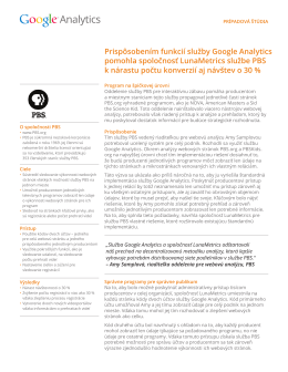 Prispôsobením funkcií služby Google Analytics