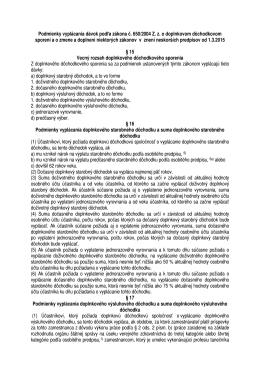 Podmienky vyplácania dávok pre účastnícke zmluvy