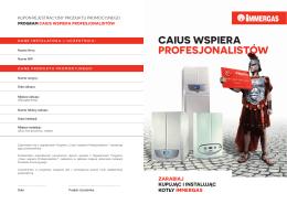 Caius wspiera Profesjonalistów