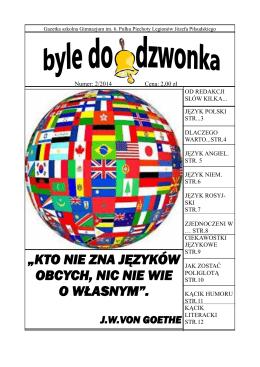"""""""kto nie zna języków obcych, nic nie wie o własnym"""". jwvon goethe"""