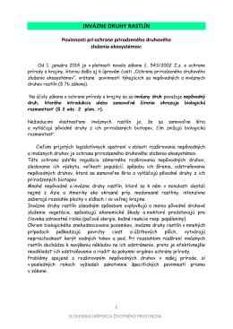 INVÁZNE RASTLINY - Slovenská inšpekcia životného prostredia