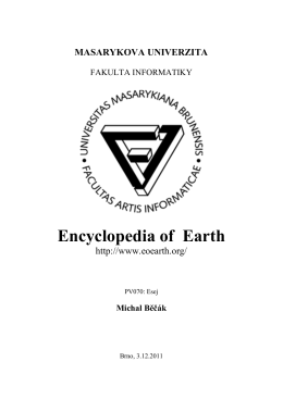 Encyclopedia of Earth - Masarykova univerzita
