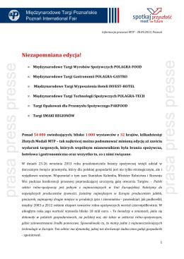Podsumowanie edycji 2013 - POLAGRA-Tech