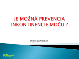 je možná prevencia inkontinencie moču