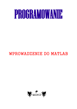 WPROWADZENIE DO MATLAB - e
