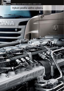 Scania hnacie reťazce Euro 6, Euro 5 a EEV