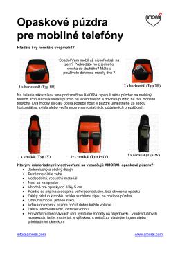 Opaskové púzdra pre mobilné telefóny