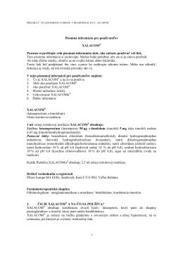Písomná informácia pre používateľov XALACOM
