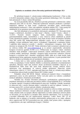 Zápisnica zo zasadania výboru SSI z 08.10.2010