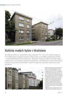 Kolónia malých bytov v Bratislave