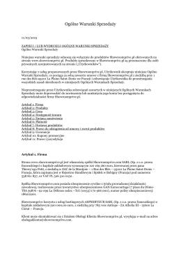 zapisz i / lub wydrukuj ogólne warunki sprzedaży