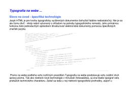 Zásady úpravy a typografická kompozícia na webe, pdf