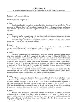Uznesenia OZ z 2. zasadnutia konaného 04.06